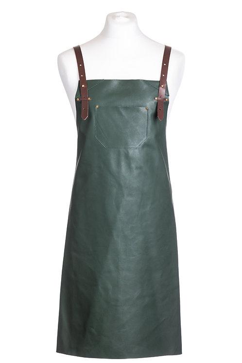 Olive Leather apron