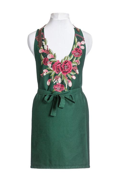 Green English rose