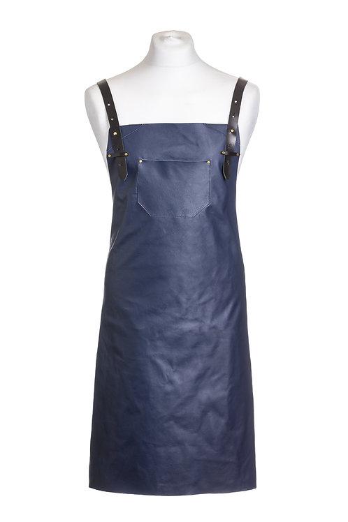 Petrol blue leather apron