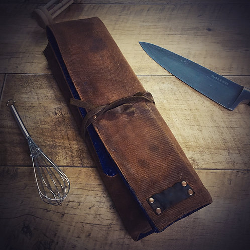 Hand Waxed Knife Wrap