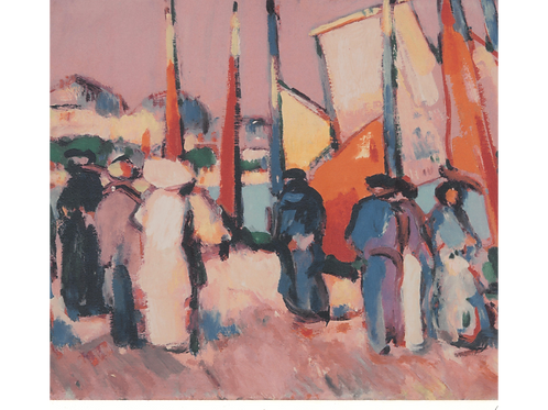 People and Sails at Royan 1910