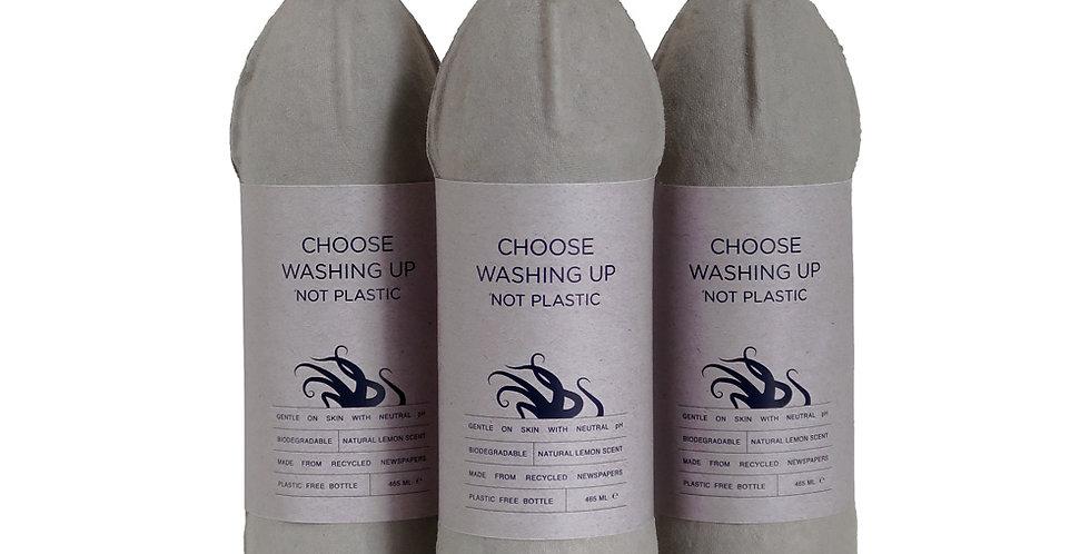 3x Biodegradable Washing Up Liquid 465ml