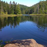 Pristine lake in the Sooke Hills