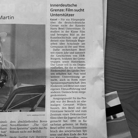 """Filmprojekt """"GRENZER"""" in der HNA"""