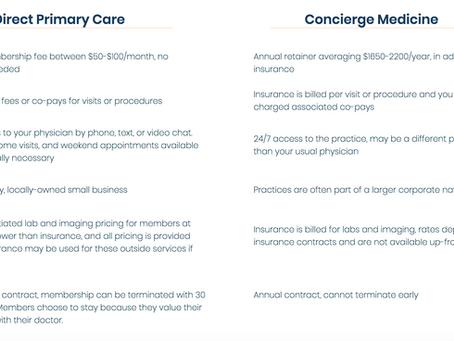 How is DPC different than Concierge Medicine?