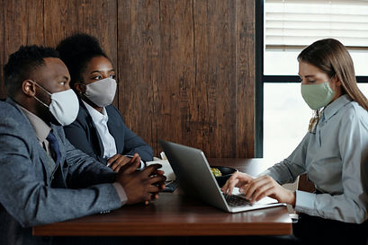business-people-wearing-face-masks-on-a-