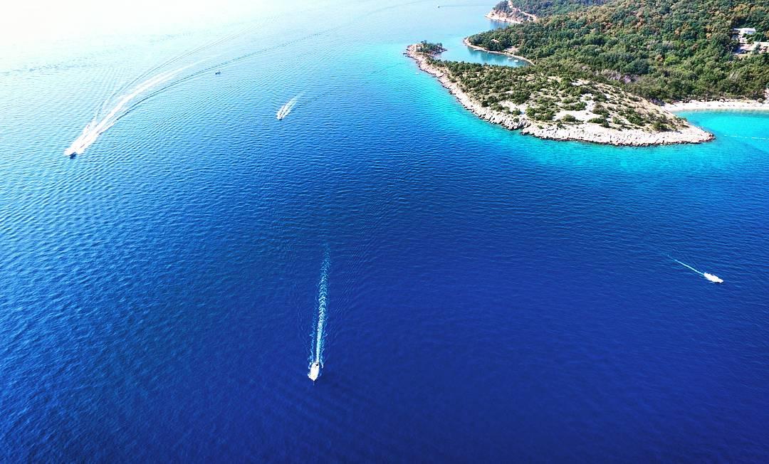 Drohnenfoto Kroatien Jadranovo Boote