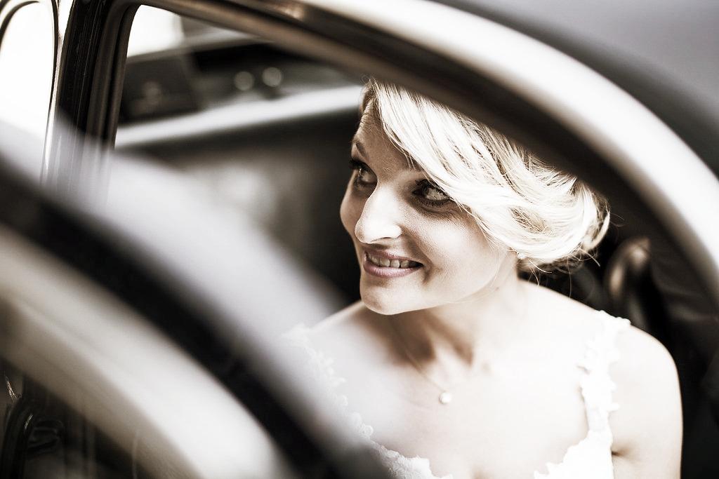 Braut Hochzeitsauto Fiat 500
