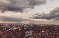Drohnenbild Frankfurt Skylineview