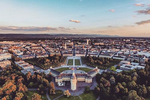 Schloss Karlsruhe Leinwanddruck 120*80cm