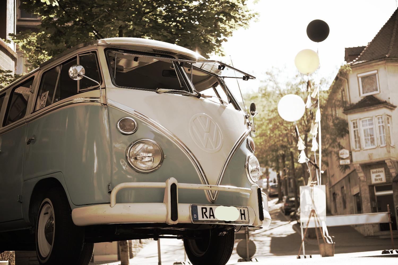 Hochzeitsauto VW Bulli T1 Karlsruhe
