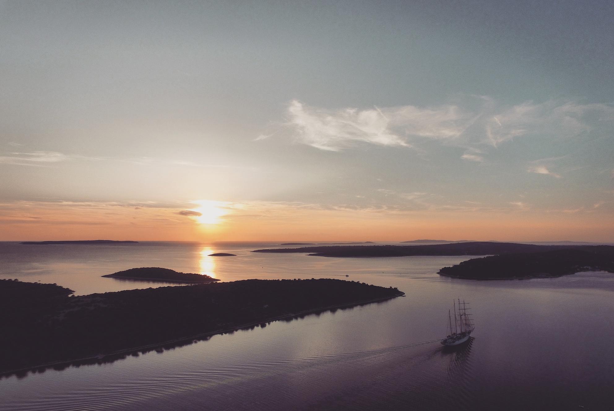 Drohnenfoto Kroatien Cres Losinj