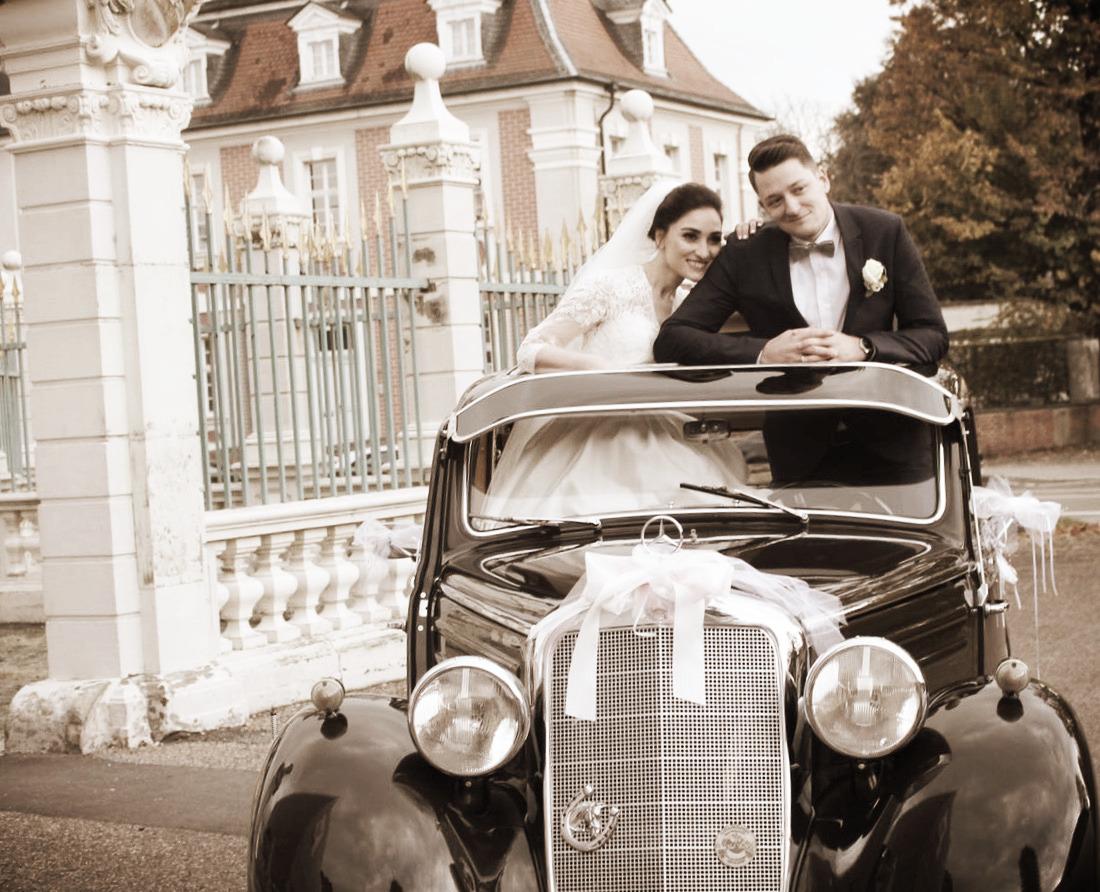Mercedes 170 Hochzeitsauto