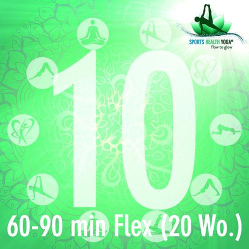 10er-Abo Flex Feel Free bis 90 Min.: Preisvorteil CHF 28.50/Lektion (20 Wo)