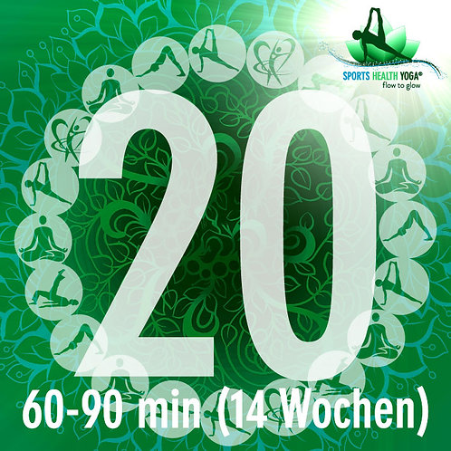 20er-Abo Feel free bis 90 Minuten: Yogi-Preis CHF 23.75/Lektion (14 Wo)
