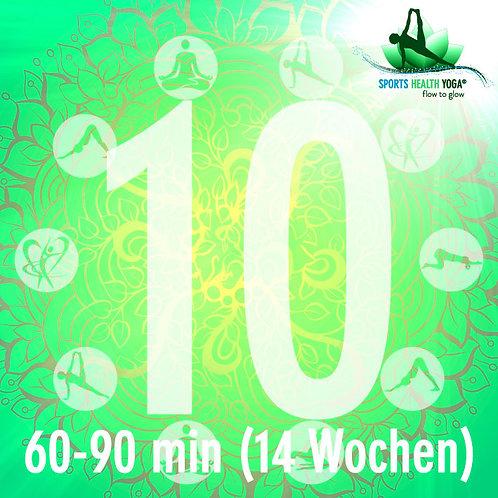 10er-Abo Feel free bis 90 Minuten: Yogi-Preis CHF 25.-/Lektion (14 Wo)