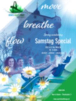 Jeden zweiten Samstag Deep Flow Yoga von zehn bis halb zwölf bei SPORTS HEALTH YOGA flow to glow im Herzen von Baden mit aktuellen und saisonalen Special Themen