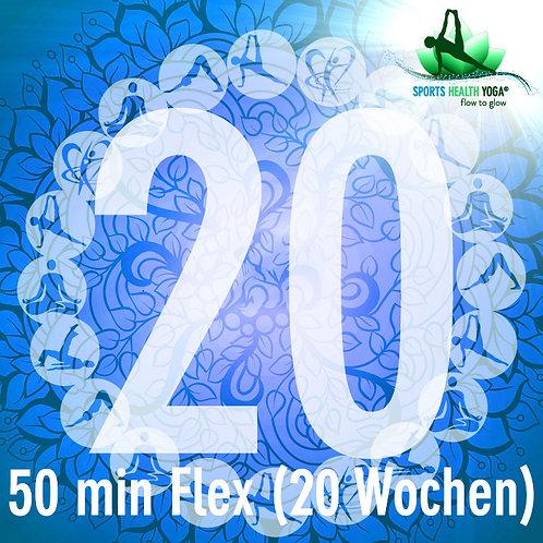 20er-Abo Flex Kurzdauer bis 50 Min.: Preisvorteil CHF 22.75/Lektion (20 Wo)