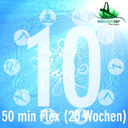 10er-Abo Flex Kurzdauer bis 50 Minuten: Preisvorteil CHF 24.-/Lektion (20 Wo)