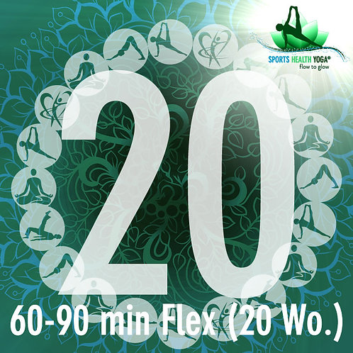 20er-Abo Flex Feel free bis 90 Min.: Preisvorteil CHF 27.25/Lek. (20 Wo)