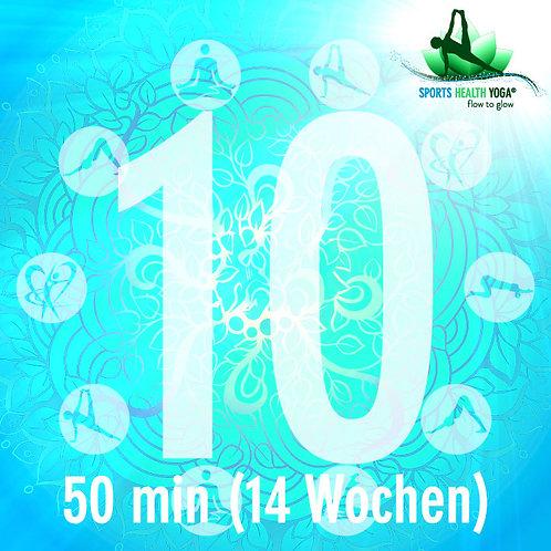 10er-Abo Kurzdauer bis 50 Minuten: Top-Preis CHF 21.-/Lektion (gültig 14 Wochen)