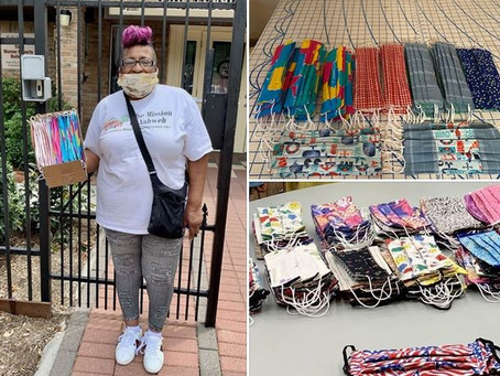 Pines continues to create and deliver masks to local non-profit organizations.