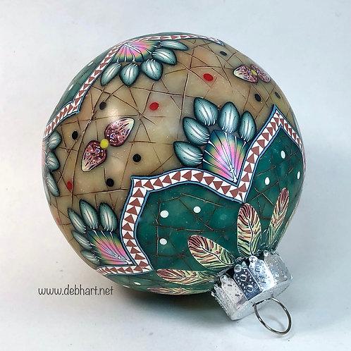 Heirloom Christmas Ornament - Amber/Jade