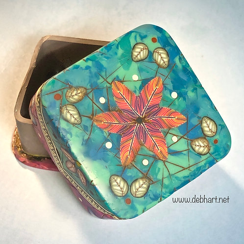 Square Turquoise/Purple Art Box