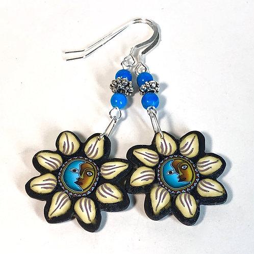 Flower Power Earrings - SunMoon/Yellow