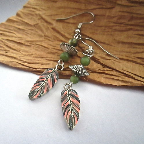 Complex Feather Earrings