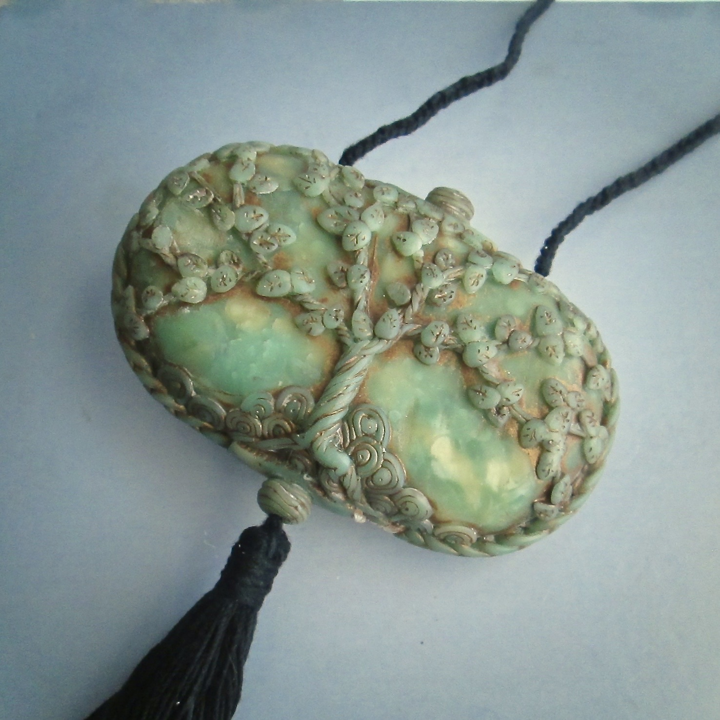 Jade Dragon Hollow Pendant