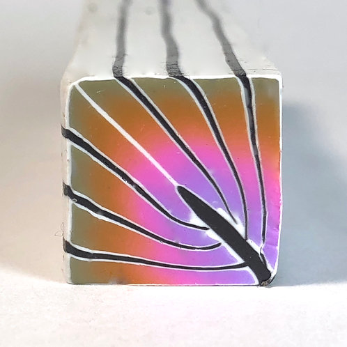 Gold/Pink/Lavendar Art Deco Cane