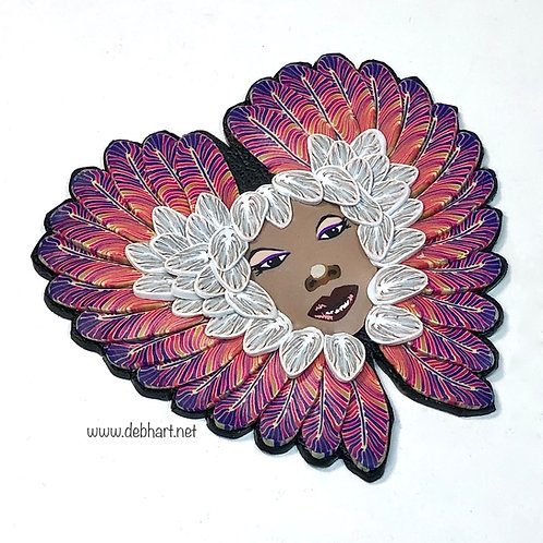 Angel pin - purple/pink/white