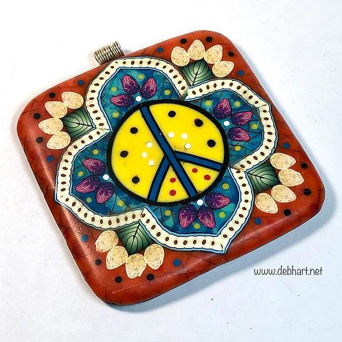 Peace Mandala Tile Pendant Tutorial