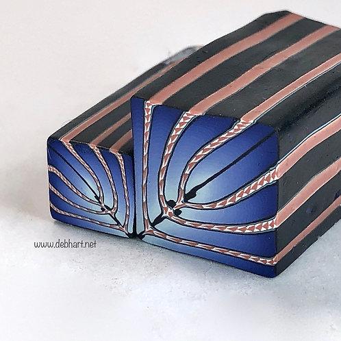 Blue Embellished Art Deco Cane