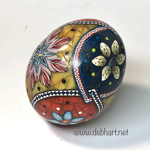 Amber/Lapis/Red Coral Rings Easter Egg - Design2