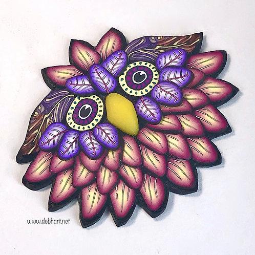 Owl Pin - Rose/Purple