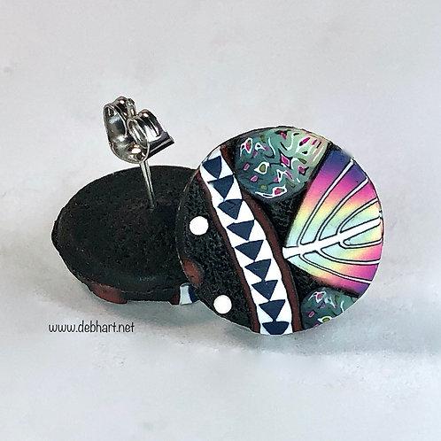 Paisley Slab Earrings - Simple Posts