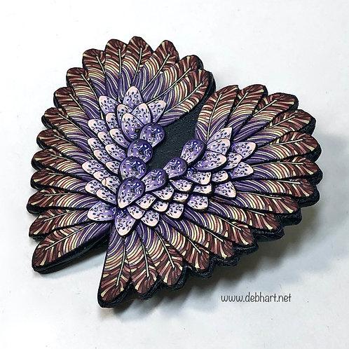 Angel Wing pin -red/purple