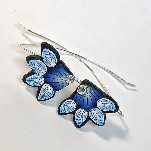 Squash Blossom Earrings - Blue/Blue Style 1