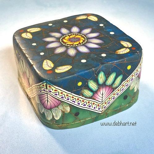 Square Lapis/Jade Art Box