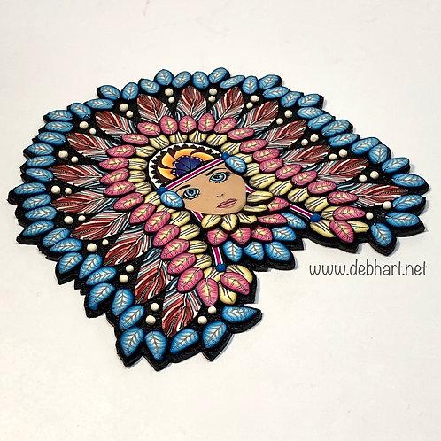 Nature Goddess pin/pendant - sunburst