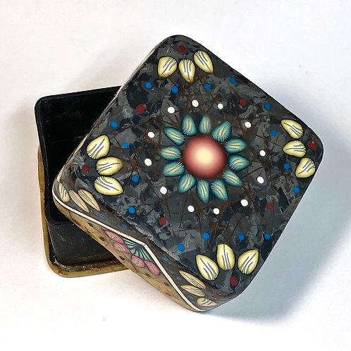 Trinket Box - Black Marble/Amber