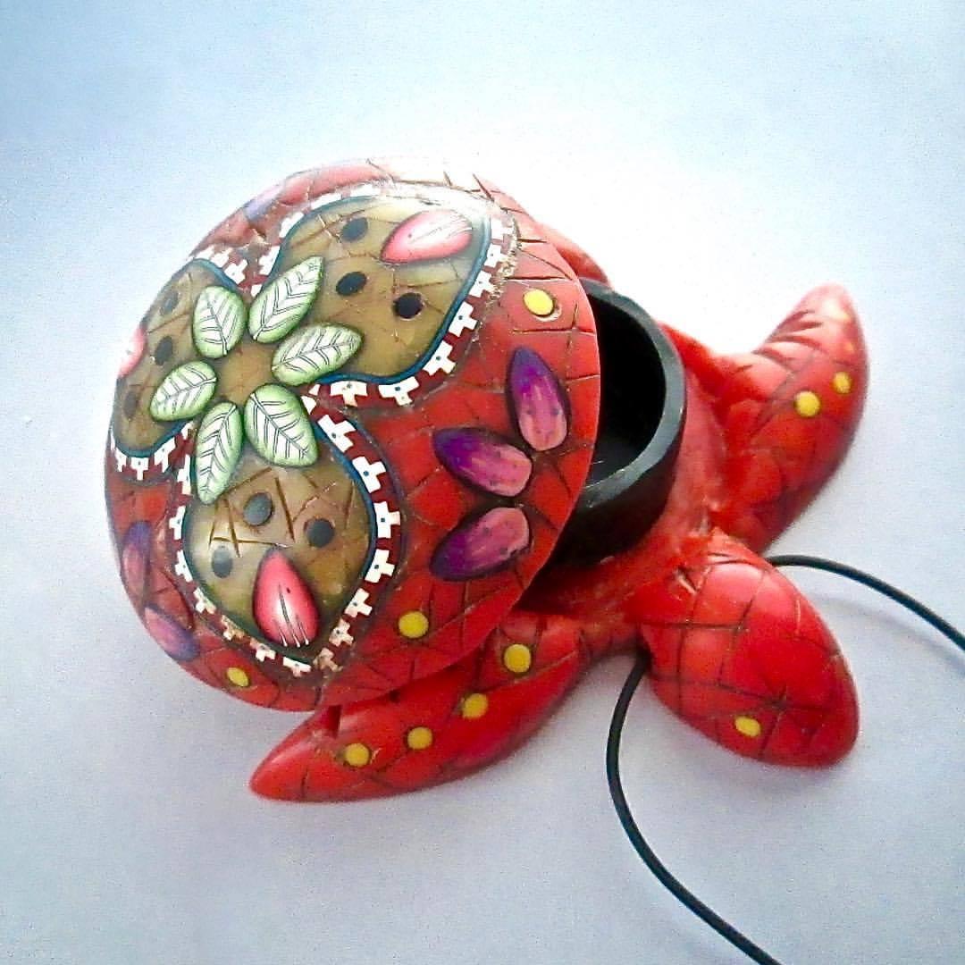Small Coral Mandala Turtle