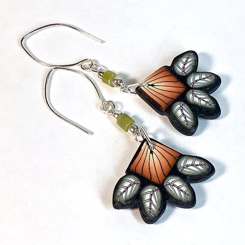 Squash Blossom Earrings - Orange/Green Style 2
