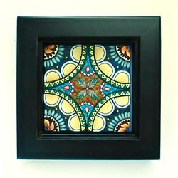 Blue/Amber Mandala Tile