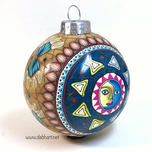 Celestial Christmas Ornament - Amber/Lapis