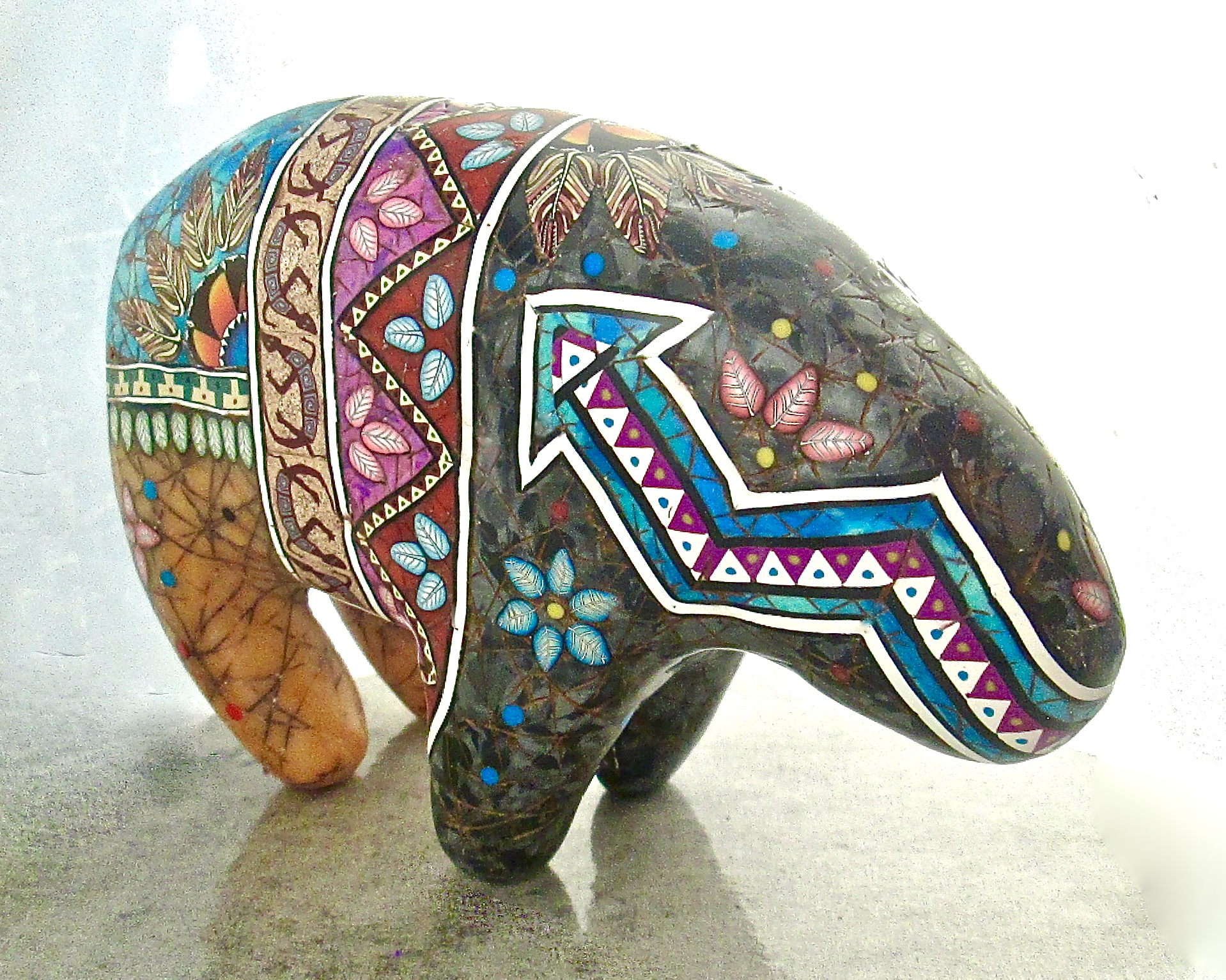 Cane Inlaid Southwestern Bear