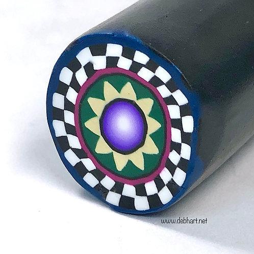 Checkerboard Accent cane - forest/purple/khaki