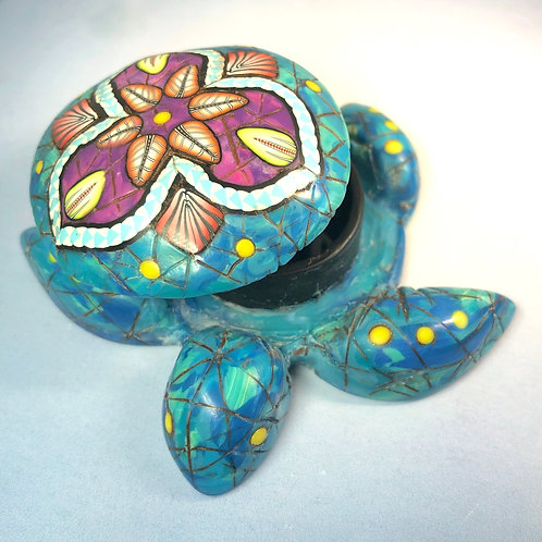 Small Turquoise/Sodalite Mandala Sea Turtle Box